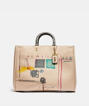 COACH X JEAN-MICHEL BASQUIAT ROGUE 39 WITH SNAKESKIN DETAIL