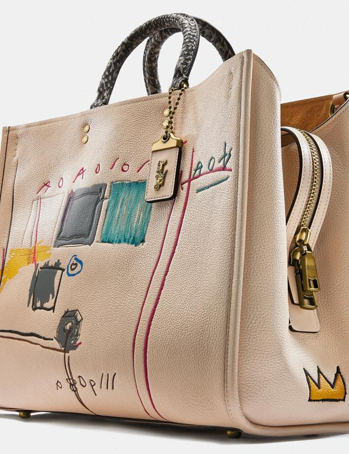 Coach Coach X Jean-Michel Basquiat Rogue 39 With Snakeskin Detail Brass/Ivory Women Handbags Satchels & Top Handles Alternate View 5