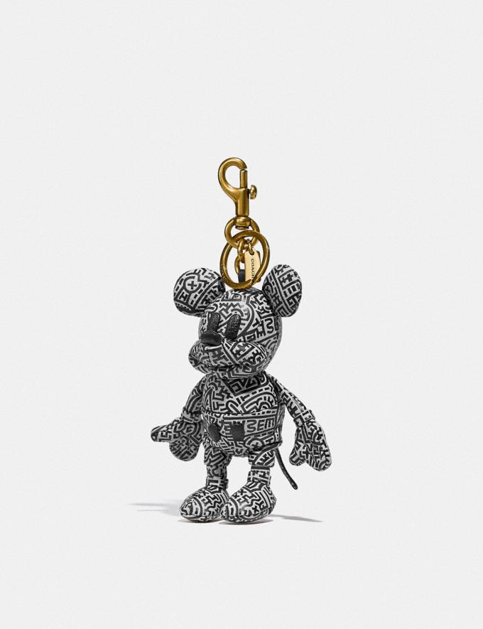 Coach Disney Mickey Mouse X Keith Haring Collectible Bag Charm Black/White New Featured Mickey x Keith Haring