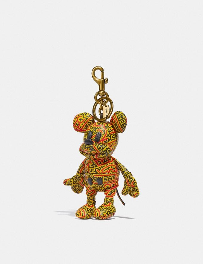 Coach Disney Mickey Mouse X Keith Haring Collectible Bag Charm Electric Red/Yellow New Featured Mickey x Keith Haring