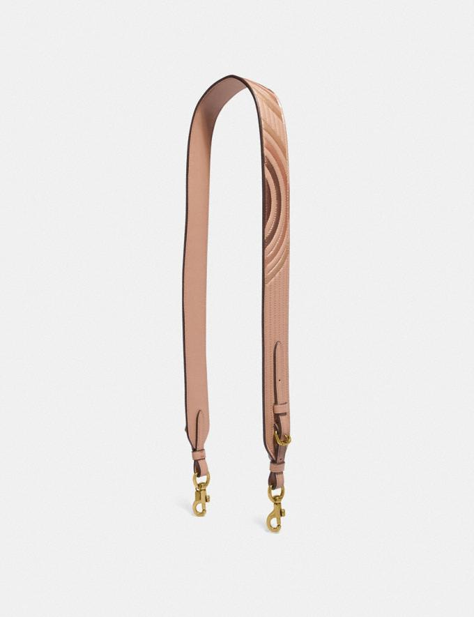 Coach Strap With Colorblock Deco Quilting Nude Pink Multi/Brass Coach Reserve Coach Reserve