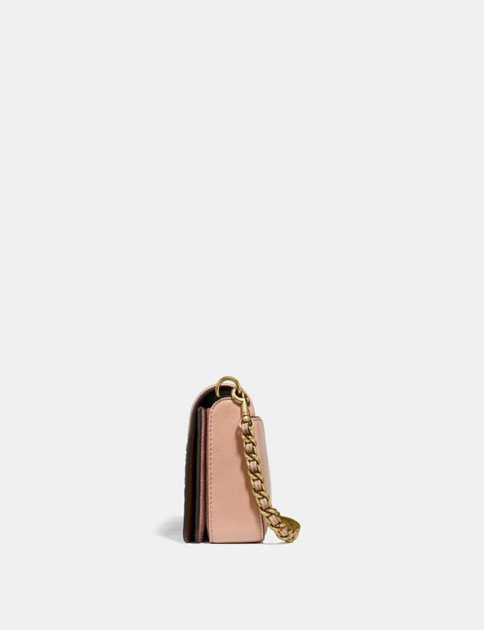 Coach Dinky With Colorblock Deco Quilting and Rivets Nude Pink Multi/Brass New Featured Online Exclusives Alternate View 1