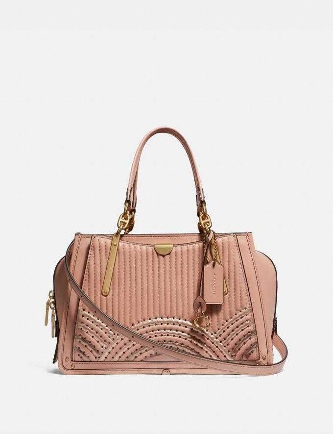 Coach Dreamer With Colorblock Deco Quilting and Rivets Nude Pink Multi/Brass New Featured Online Exclusives