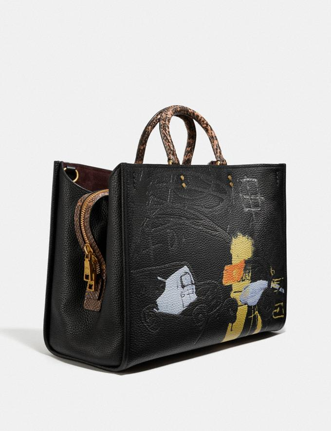 Coach Coach X Jean-Michel Basquiat Rogue 39 With Snakeskin Detail Brass/Black  Alternate View 1