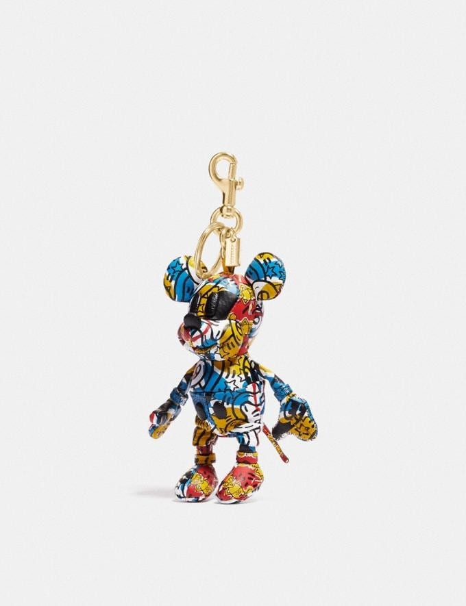 Coach Disney Mickey Mouse X Keith Haring Collectible Bag Charm Black/Red New Featured Mickey x Keith Haring