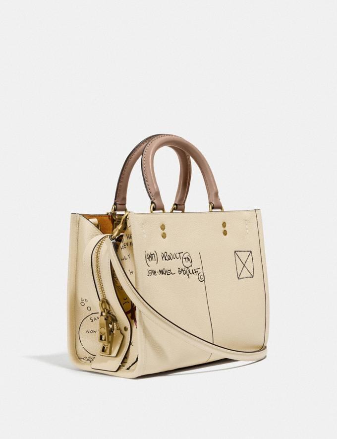 Coach Coach X Jean-Michel Basquiat Rogue 25 Brass/Ivory Women Handbags Satchels & Top Handles Alternate View 1