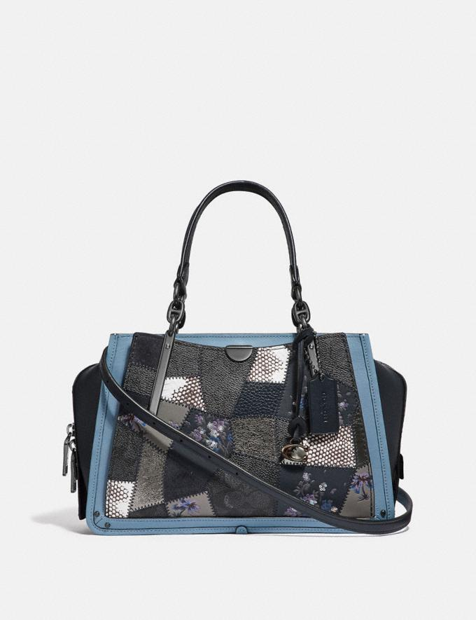 2036faf85c8 Coach Dreamer With Signature Patchwork Charcoal Slate Multi/Pewter Women  Bags Satchels & Carryalls