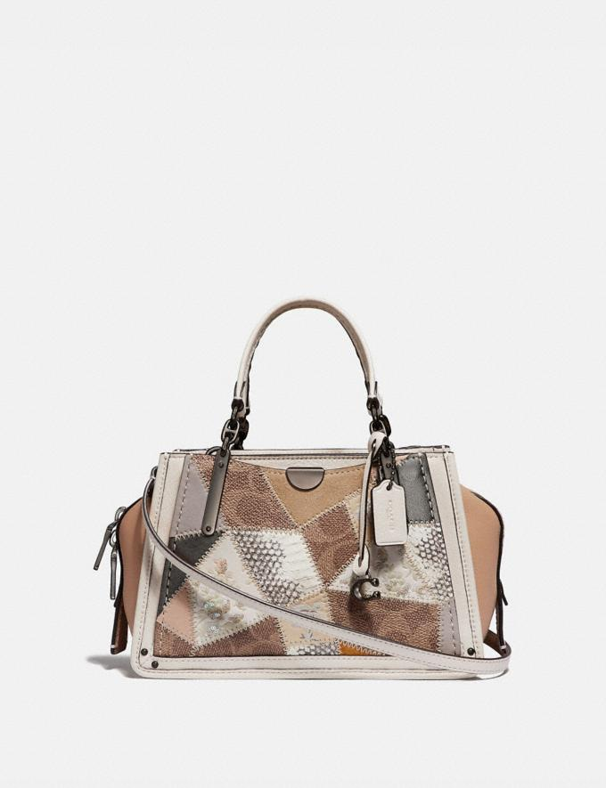 Coach Dreamer 21 With Signature Patchwork Tan Beechwood Multi/Pewter New Featured Selena Gomez in Coach