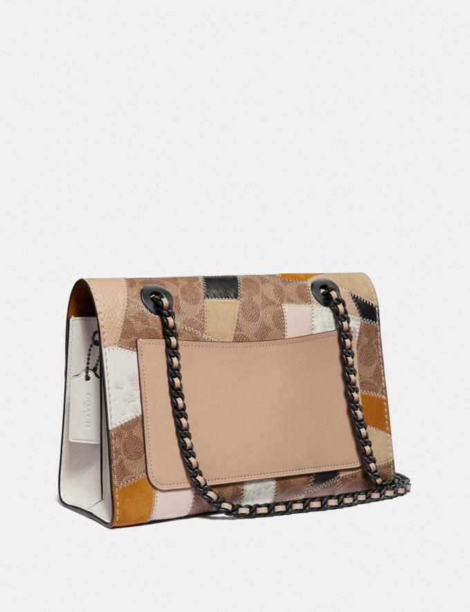 Coach Parker With Signature Patchwork Tan Beechwood Multi/Pewter Women Bags Shoulder Bags Alternate View 1