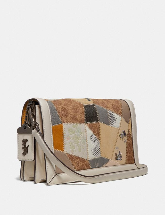 Coach Riley With Signature Patchwork Tan Beechwood Multi/Pewter Women Collection Signature Styles Alternate View 1