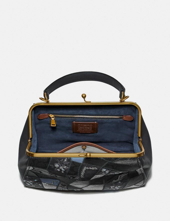 Coach Frame Bag With Signature Patchwork V5/Charcoal Slate Multi  Alternate View 2