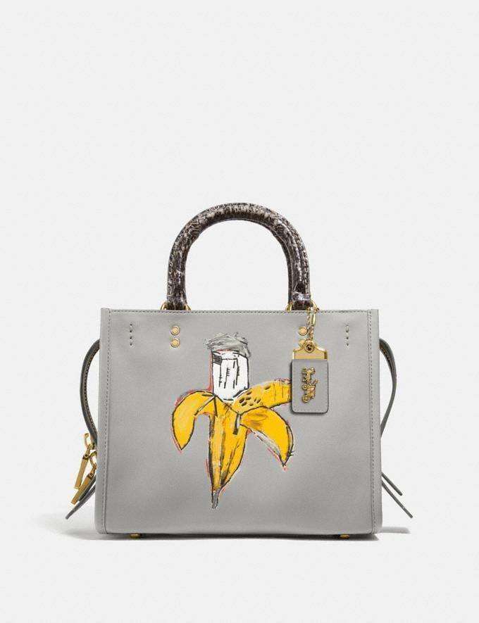 Coach Coach X Jean-Michel Basquiat Rogue 25 With Snakeskin Detail Brass/Cinder New Women's New Arrivals Coach x Basquiat