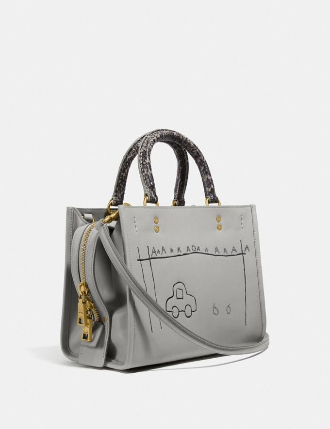 Coach Coach X Jean-Michel Basquiat Rogue 25 With Snakeskin Detail Brass/Cinder Women Edits Coach x Basquiat Alternate View 1
