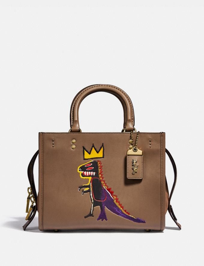 Coach Coach X Jean-Michel Basquiat Rogue 25 Brass/Elm Women Handbags Satchels & Top Handles