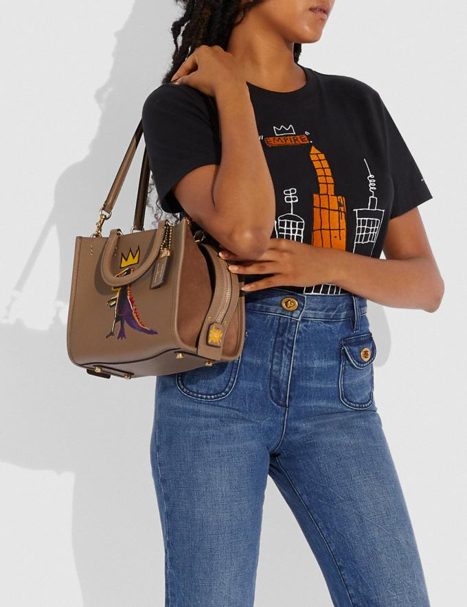 Coach Coach X Jean-Michel Basquiat Rogue 25 Brass/Elm Women Bags Crossbody Bags Alternate View 3