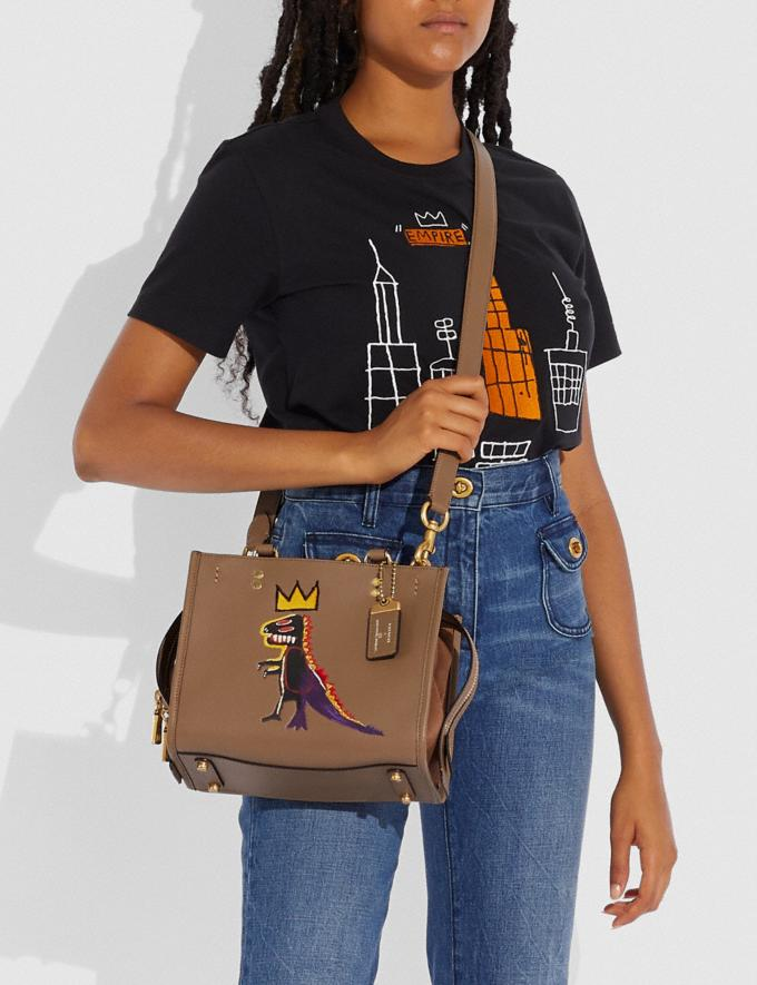 Coach Coach X Jean-Michel Basquiat Rogue 25 Messing/Ulme Damen Taschen Umhängetaschen Alternative Ansicht 4