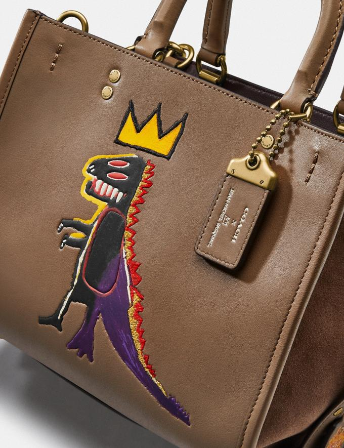 Coach Coach X Jean-Michel Basquiat Rogue 25 Brass/Elm Women Bags Crossbody Bags Alternate View 6