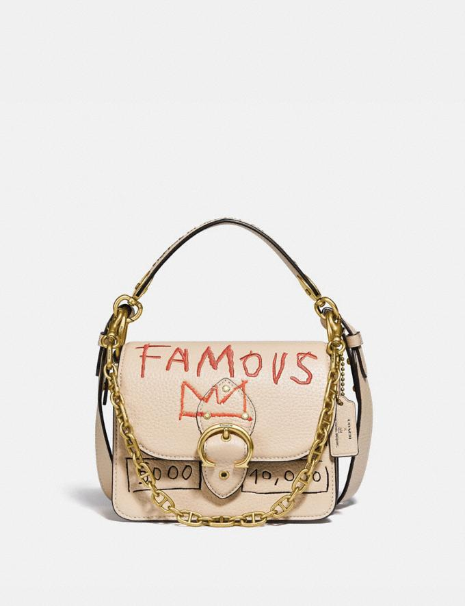 Coach Coach X Jean-Michel Basquiat Beat Shoulder Bag 18 Brass/Ivory Women Handbags Crossbody Bags