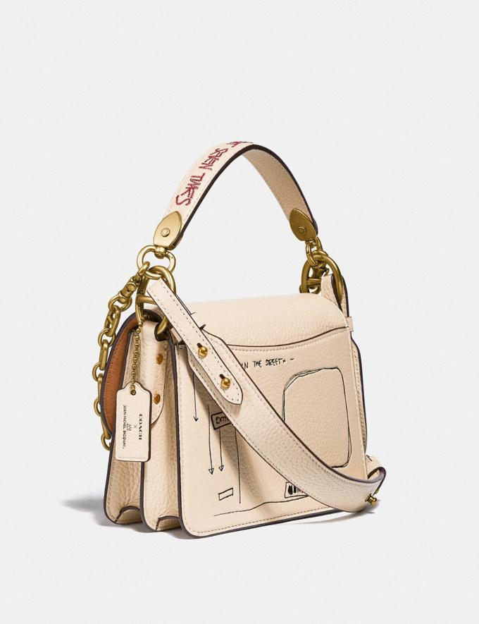 Coach Coach X Jean-Michel Basquiat Beat Shoulder Bag 18 Brass/Ivory Women Handbags Crossbody Bags Alternate View 1