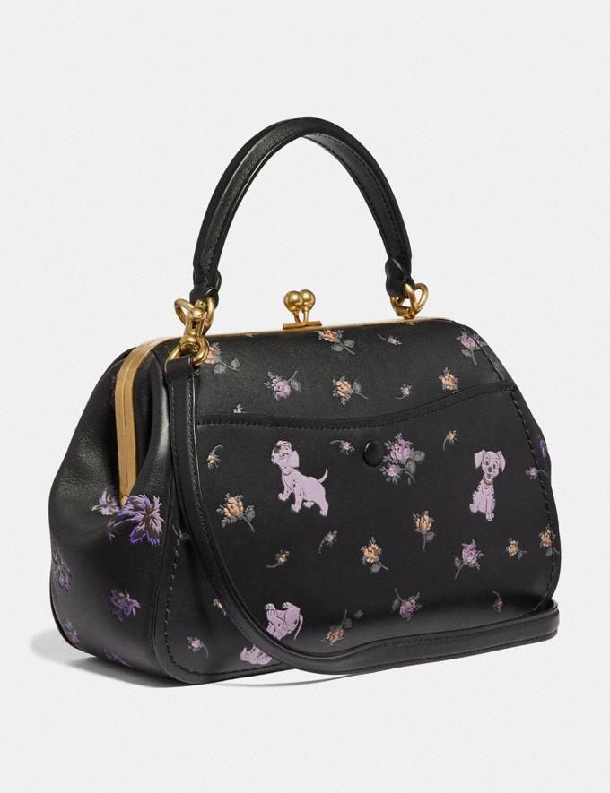 Coach Disney X Coach Frame Bag 23 With Dalmatian Floral Print Black/Brass Women Bags Satchels & Carryalls Alternate View 1