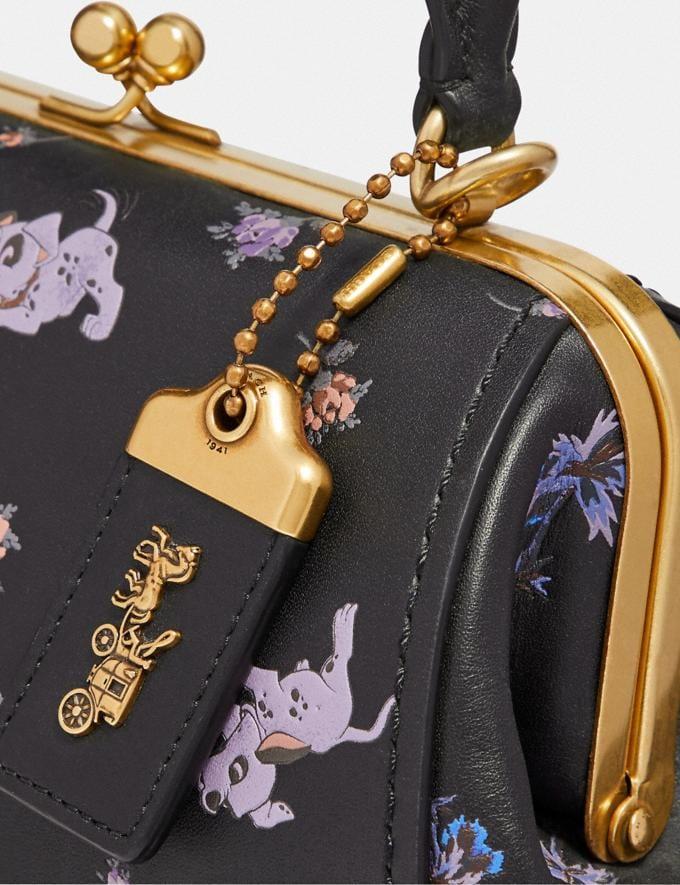 Coach Disney X Coach Frame Bag 23 With Dalmatian Floral Print Black/Brass SALE Women's Sale Bags Alternate View 4