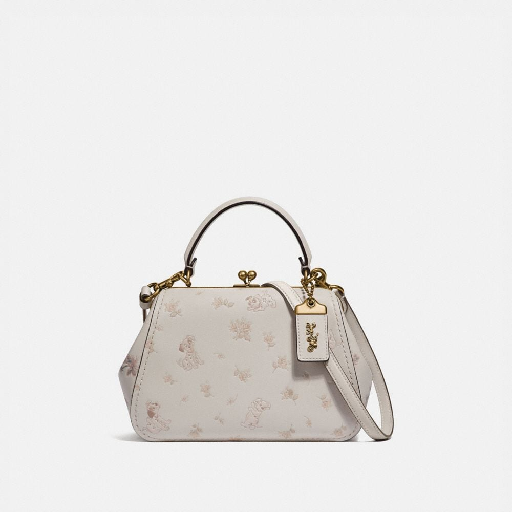 Coach Disney X Coach Frame Bag 23 With Dalmatian Floral Print
