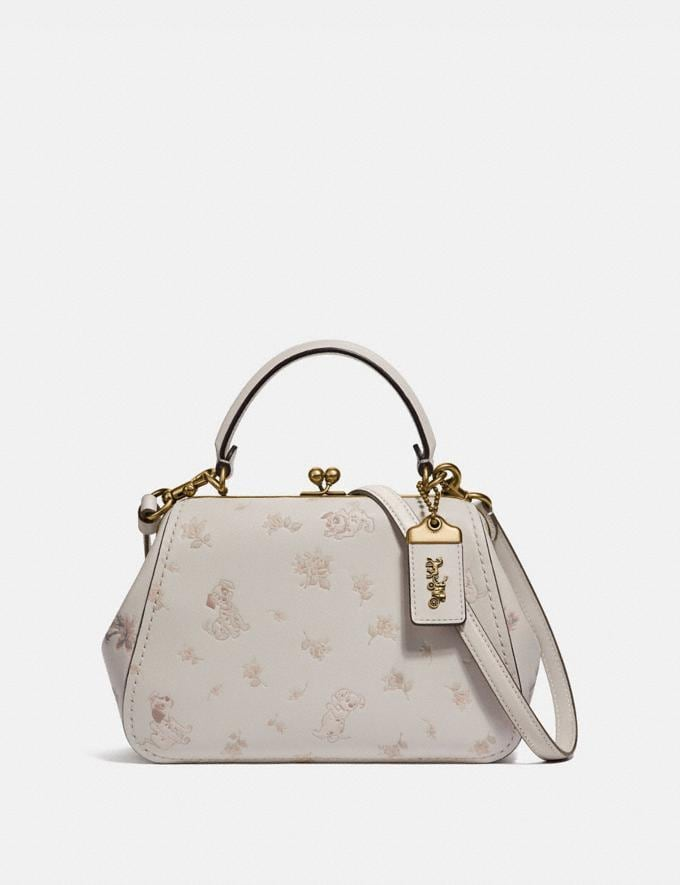Disney X Coach Frame Bag 23 With Dalmatian Floral Print Coach