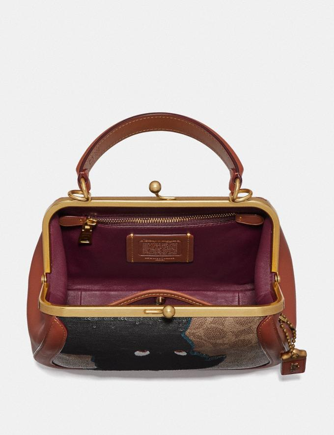 Coach Disney X Coach Frame Bag 23 With Embellished Peter Pan Tan/Rust/Brass Women Bags Satchels & Carryalls Alternate View 2