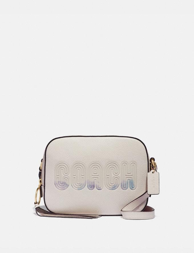 Coach Camera Bag With Coach Print Chalk/Gold Women Bags Crossbody Bags