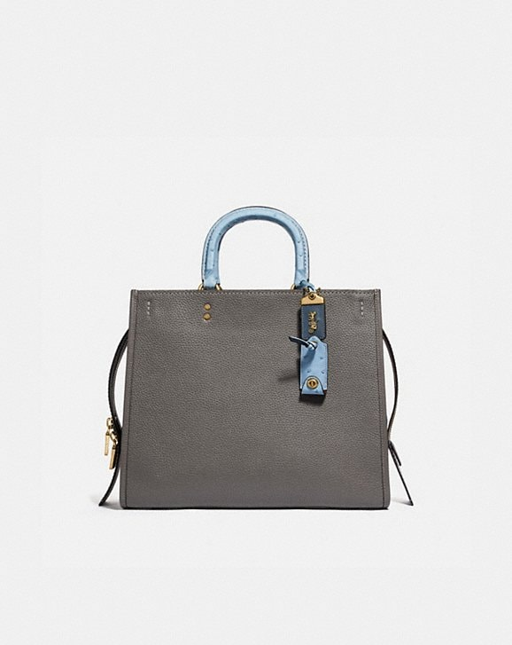 Coach ROGUE 36 IN COLORBLOCK WITH OSTRICH DETAIL