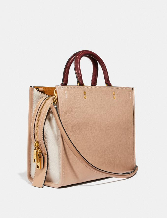 Coach Rogue in Colorblock With Ostrich Detail Beechwood/Brass Women Handbags Shoulder Bags & Hobos Alternate View 1