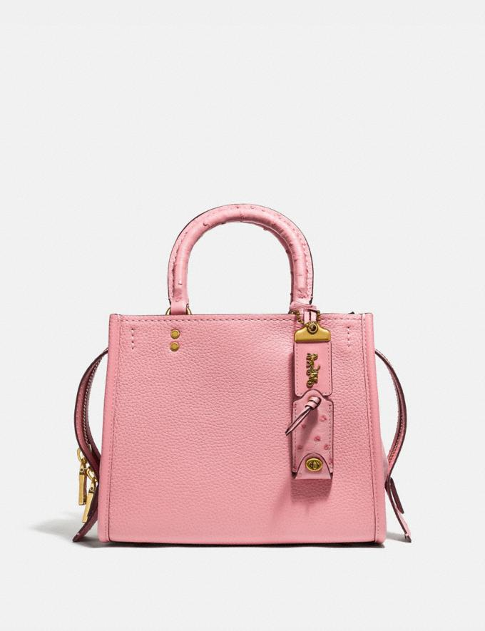 Coach Rogue 25 With Ostrich Detail Pink/Brass