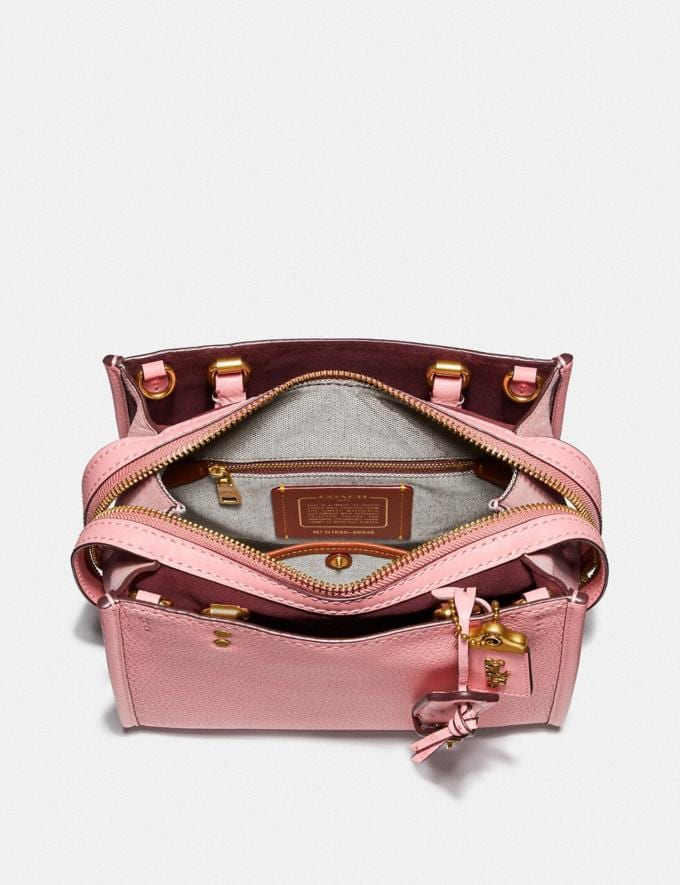 Coach Rogue 25 With Ostrich Detail Pink/Brass  Alternate View 2