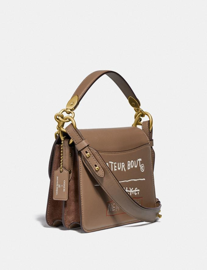 Coach Coach X Jean-Michel Basquiat Beat Shoulder Bag 18 Brass/Elm Women Bags Shoulder Bags Alternate View 1