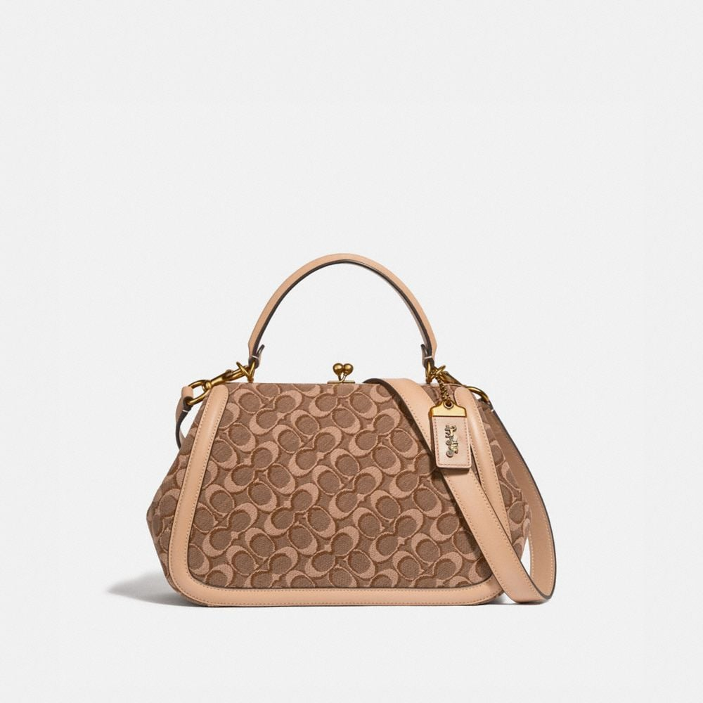 Coach Frame Bag in Signature Jacquard