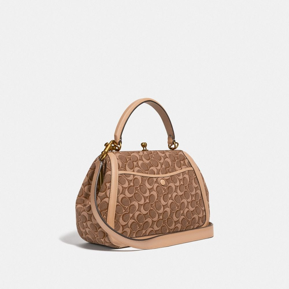 Coach Frame Bag in Signature Jacquard Alternate View 1