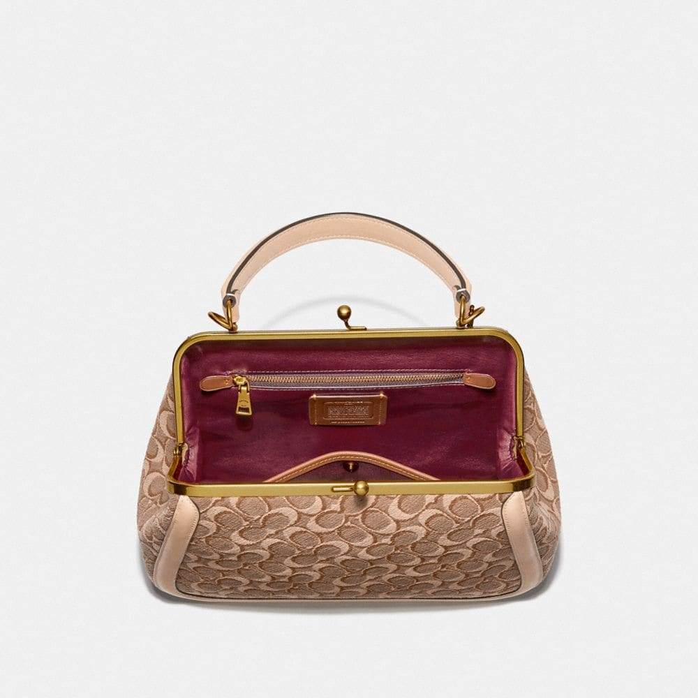 Coach Frame Bag in Signature Jacquard Alternate View 2
