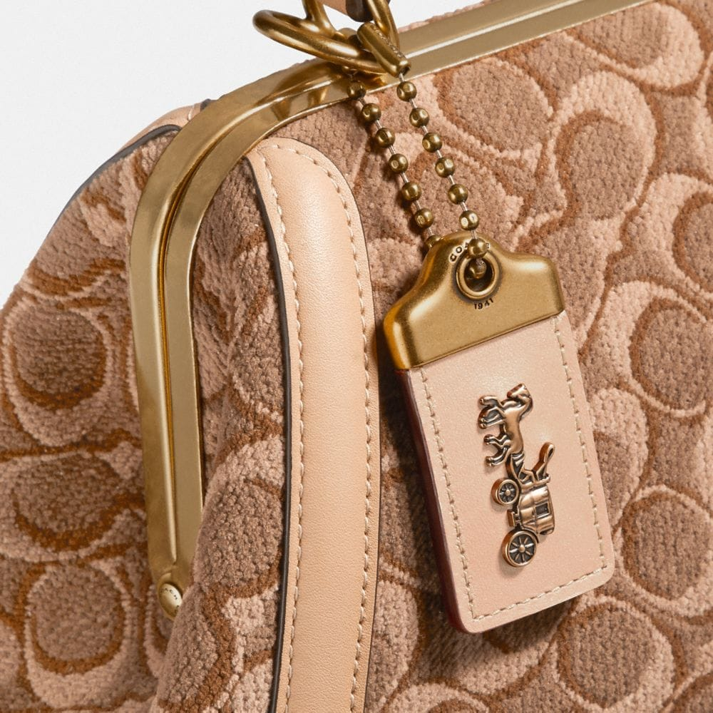 Coach Frame Bag in Signature Jacquard Alternate View 5
