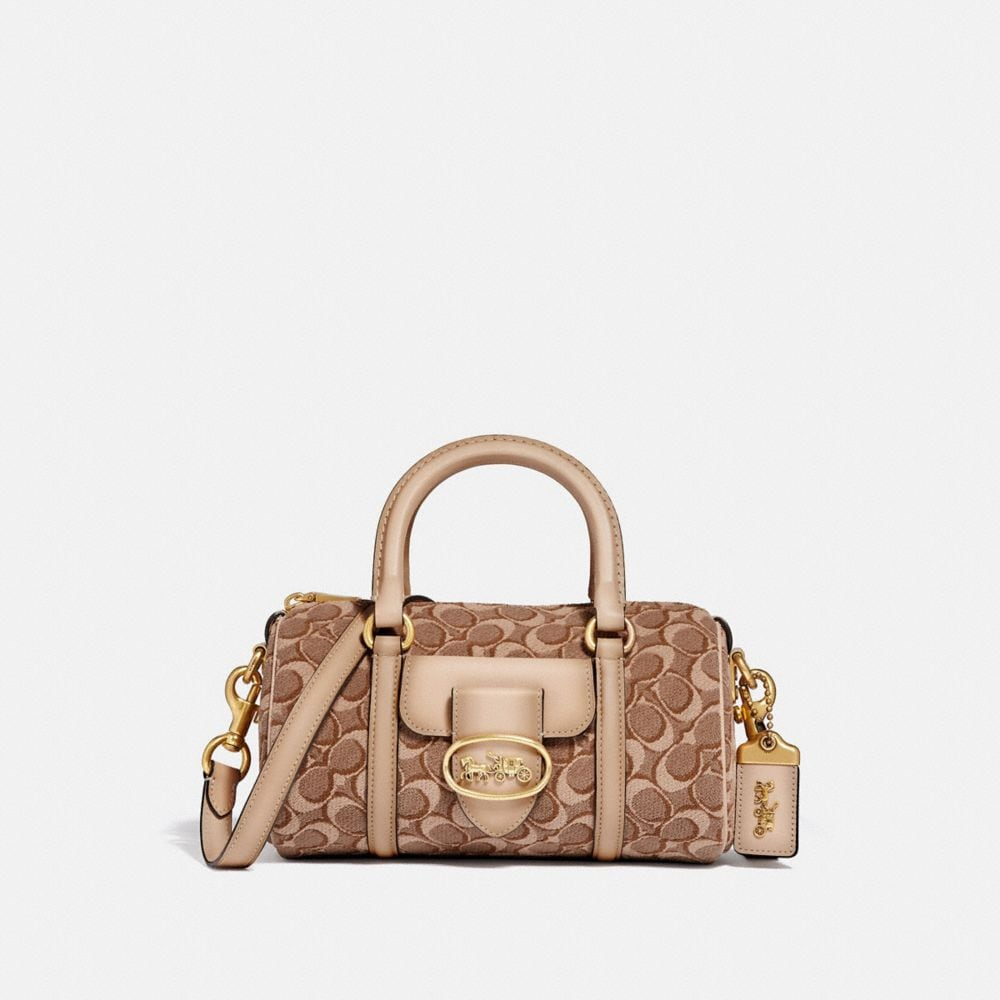 Coach Barrel Bag in Signature Jacquard