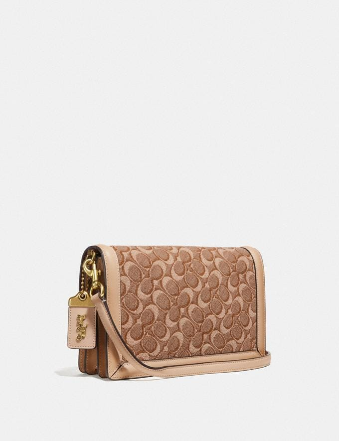 Coach Riley in Signature Jacquard Tan Light Tan/Brass Women Collection Signature Styles Alternate View 1