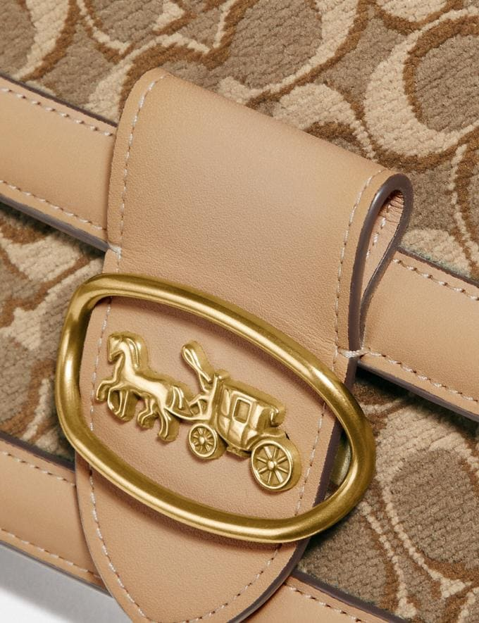 Coach Riley in Signature Jacquard Tan Light Tan/Brass Women Collection Signature Styles Alternate View 4