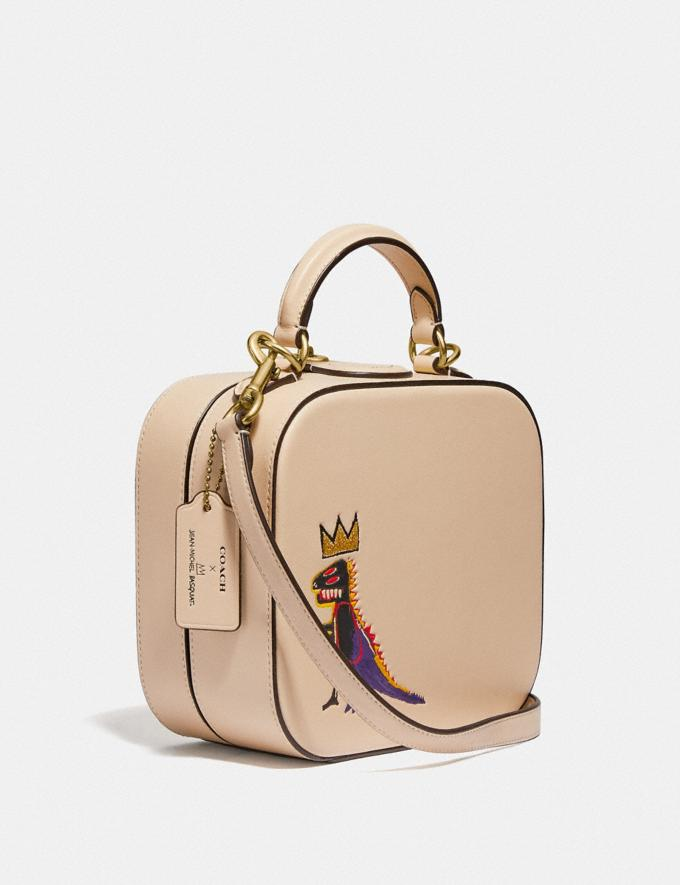 Coach Coach X Jean-Michel Basquiat Square Bag Brass/Ivory Women Handbags Satchels & Top Handles Alternate View 1
