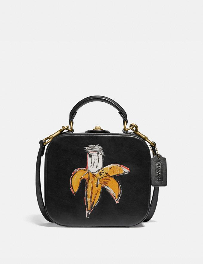 Coach Coach X Jean-Michel Basquiat Square Bag Brass/Black Women Handbags Satchels & Top Handles