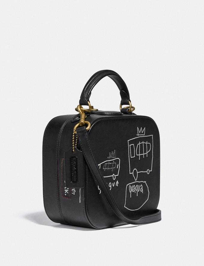 Coach Coach X Jean-Michel Basquiat Square Bag Brass/Black Women Handbags Satchels & Top Handles Alternate View 1