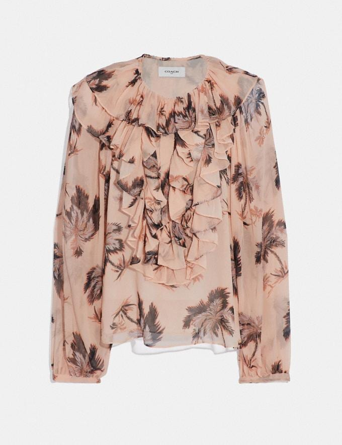 Coach Peasant Blouse Peach Women Ready-to-Wear Tops