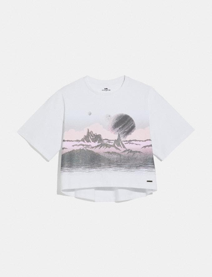 Coach Landscape T-Shirt White SALE Women's Sale