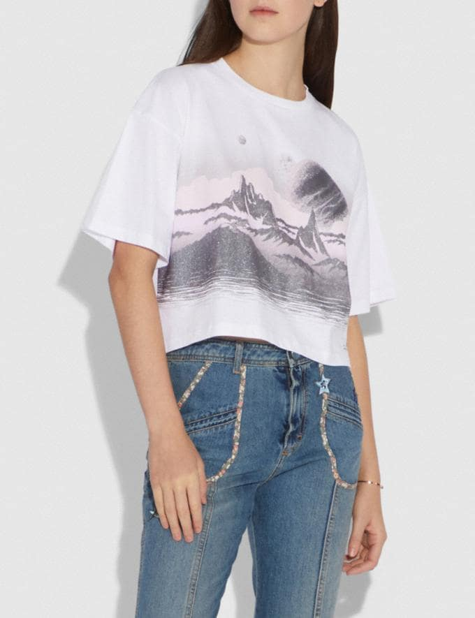 Coach Landscape T-Shirt White SALE Women's Sale Alternate View 1