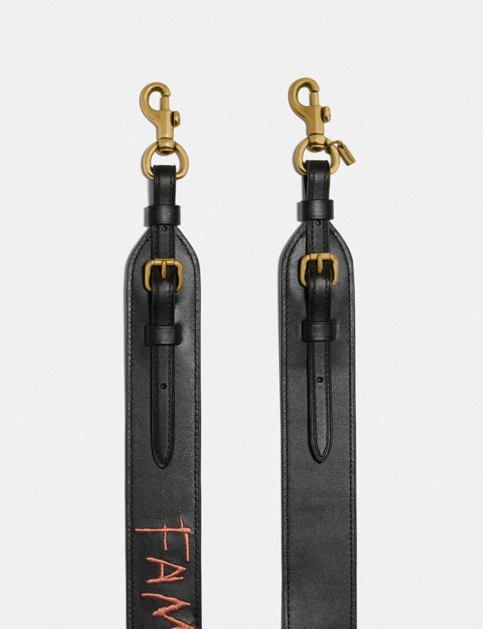Coach Coach X Jean-Michel Basquiat Strap Brass/Black Women Bags Shoulder Bags Alternate View 1