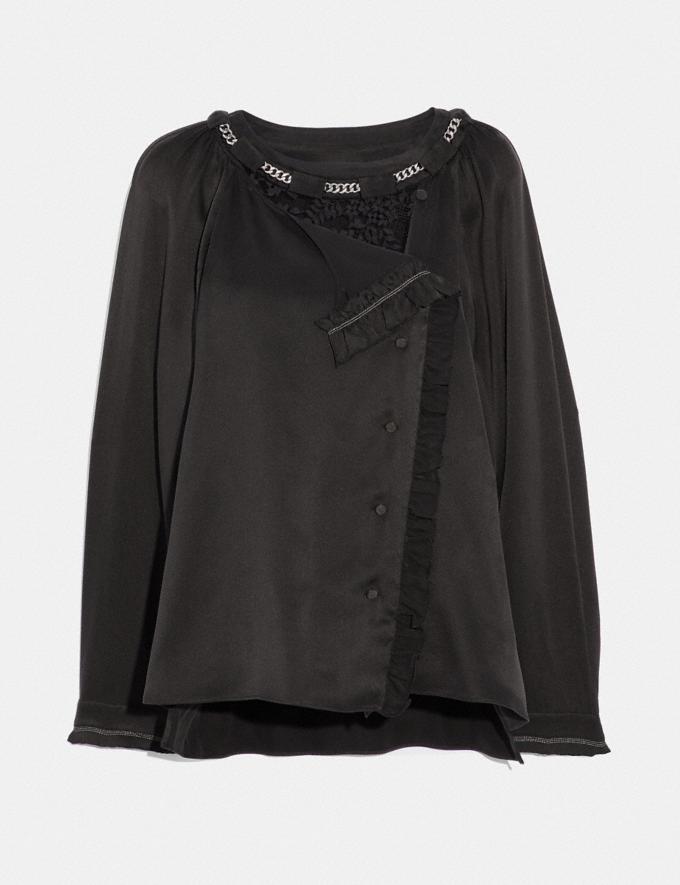 Coach Ruffle Shirt Black SALE Women's Sale Ready-to-Wear