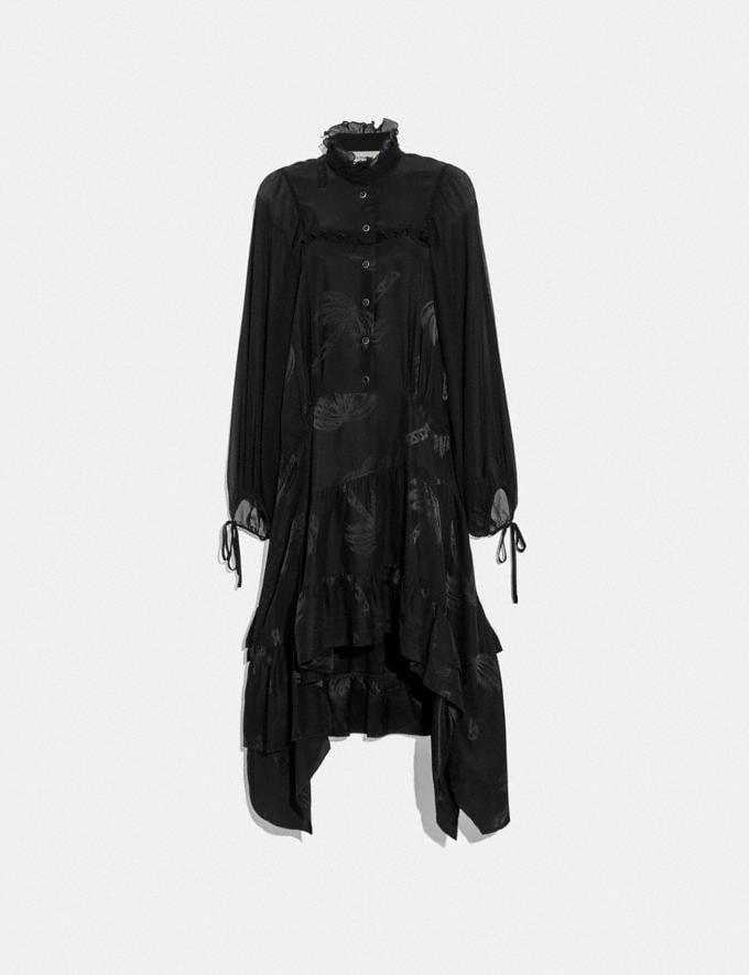 Coach Palm Tree Print Jacquard Dress Black SALE Women's Sale Ready-to-Wear